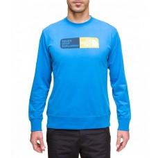 Achat Vente THE NORTH FACE Slogan cotton Tee shirt manche longue homme t0avaa Bleu sur freemountain.fr