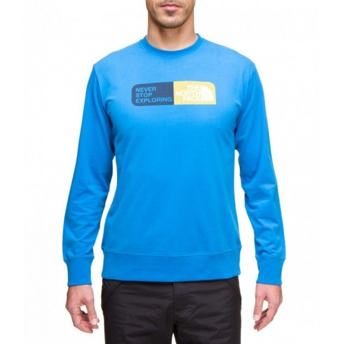 Tee shirt The north face Slogan Ts coton manche longue homme t0avaa Bleu