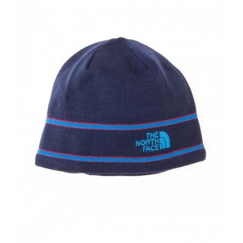Bonnet The north face Logo Laine merinos unisex Bleu