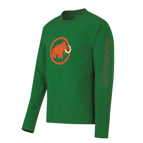 Tee shirt ML Mammut Gros Logo Tee Ts cotton homme Vert