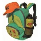 FRENDO Kit de la jungle 7L Sac a dos casquete gourde enfant 1263 vert