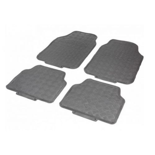 Tapis Auto CAOUTCHOUC 2 avts+2 arrieres Tuning metal Carbone Universel