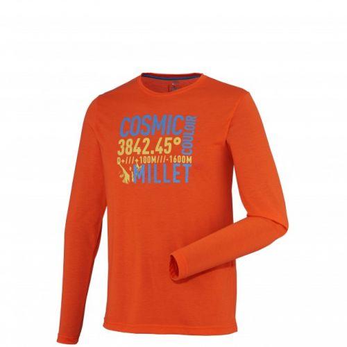 T-Shirt Millet COULOIR TS ML Graphisme Homme Orange