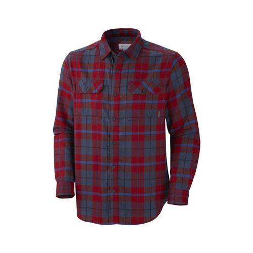 chemise columbia flare gun manche longue flanelle homme rouge polo. Black Bedroom Furniture Sets. Home Design Ideas