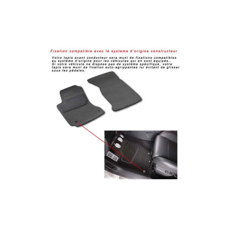 tapis auto peugeot 208 208 sw 2008 sur mesure noir. Black Bedroom Furniture Sets. Home Design Ideas