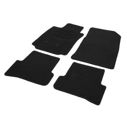 Tapis RENAULT CLIO 3, CLIO 3 Estate, du 01.05 au 12.12, 4 pièces Noir sur mesure. Cuivre …