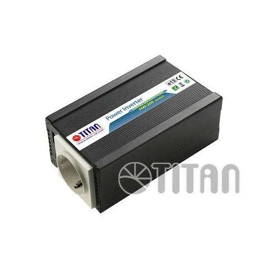 TITAN-CD Convertisseur de tension quasi-sinus energie 12V 200/400W Titan-cd HW-200E6 + USB