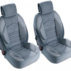 2 Couvres sieges Grand Confort Airbags Lateraux Maille respirante Gris